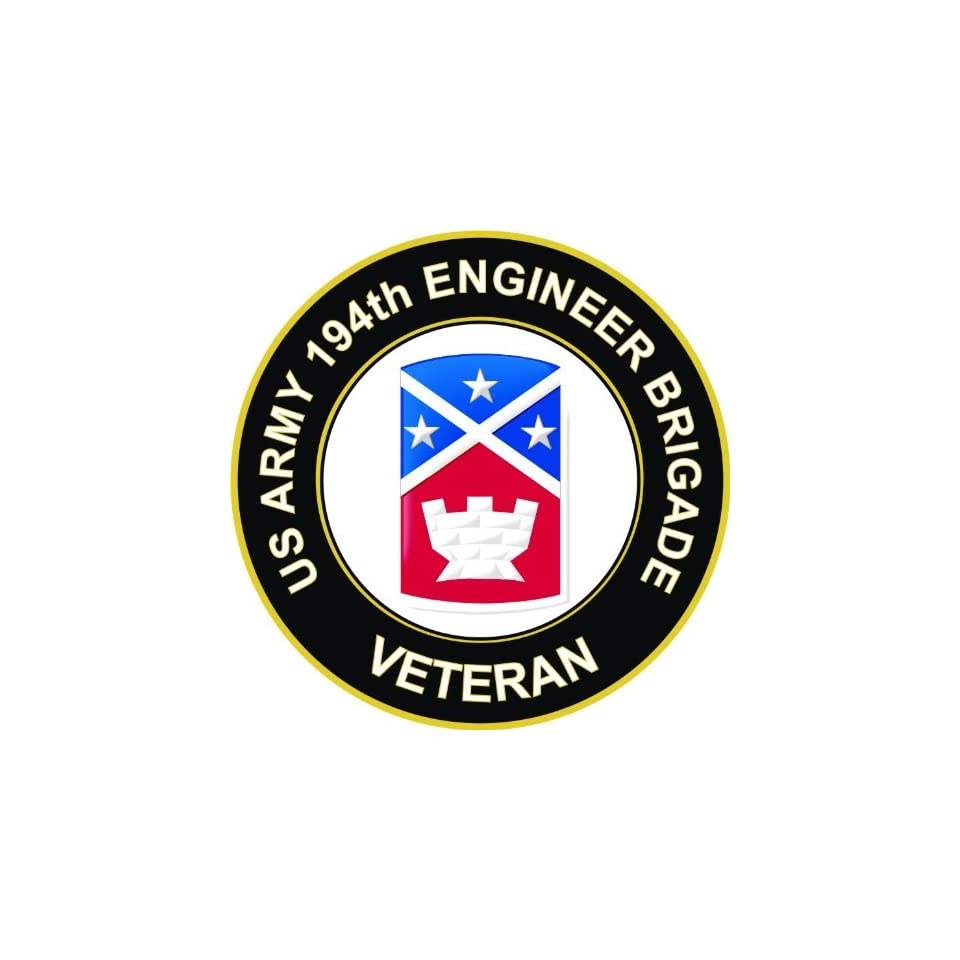 US Army Veteran 194th Engineer Brigade Decal Sticker 3.8 6 Pack