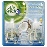 Air Wick Scented Oil Air Freshener, Serene Coconut Breeze, 2 Refills, 0.67 Ounce by Air Wick