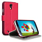 Samsung Galaxy S4 i9500 Low Profile Covert Branded PU Leather Wallet Case / Cover / Pouch / Holster - Redby Covert