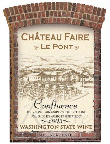 "2005 Chateau Faire Le Pont ""Confluence"" Washington State Red Blend 750 Ml"