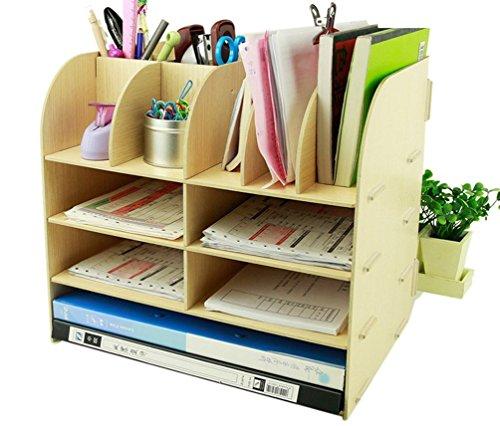 Menu Life Ufficio fornitore Mobiletto da scrivania in legno Storage Box penna matita Holder stand Beige