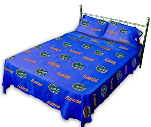 Florida Gators Printed Sheet Set - Solid by College Covers