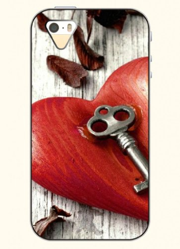 Oofit Phone Case Design With Keys And Hearts For Apple Iphone 4 4S 4G front-962608