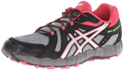 ASICS Women's Gel-Fuji Trainer 3 Trail Running Shoe,Aluminium/Lightning/Rouge,11 M US