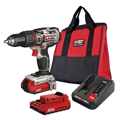 PORTER-CABLE PCC620LB 20V MAX Lithium Ion Hammer Drill Kit (Drill Porter Cable compare prices)