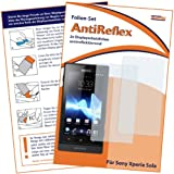 2 x mumbi Displayschutzfolie Sony Xperia Sola Schutzfolie AntiReflex antireflektierend