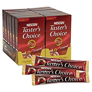 NES66870 Nescafa(C) Taster's Choice Stick Pack, Premium Coffee, Original Blend, .07Oz, 84/Carton