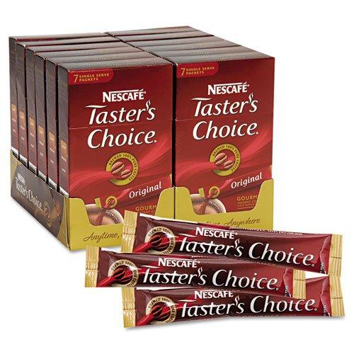 Nescafé - Taster'S Choice Stick Pack, Premium Coffee, Original Blend, .07Oz, 84/Carton 66870 (Dmi Ct