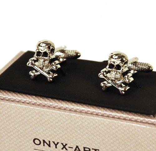 Cufflinks - Silver Skull & Crossbones