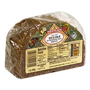 Rubschlager Bread, Rye-Ola, Pumpernickel, 16-Ounce (Pack of 6)