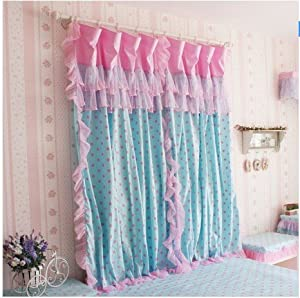 Amazon.com - Diaidi Korean Romantic Curtain, Girls Princess Polka ...