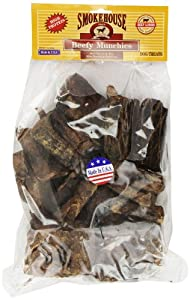 Smokehouse 100-Percent Natural Beef Munchies Dog Treats, 1-Pound