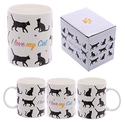 Tazza mug Colazione in ceramica con Design Io amo Il mio Gatto