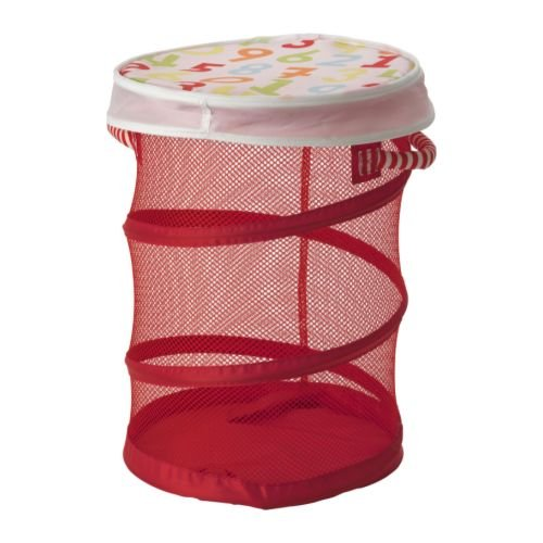 ikea toy storage bin laundry basket children 39 s red mesh 19 x 13 new ebay. Black Bedroom Furniture Sets. Home Design Ideas