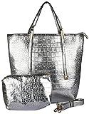 Advika Women's Handbag (Silver, AD612)