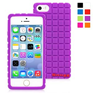 Snugg iPhone 5/5s Case - Protective, Non-Slip Silicone Case With Lifetime Guarantee (Purple) For Apple iPhone 5/5s