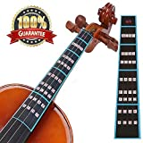 Meiso Violin Finger Guide Fingerboard Sticker Fret guide Label Intonation Finger Chart Fretboard for Practice Beginners Size 4/4, 3/4,1/2,1/4,1/8,1/10 by (4/4) (Color: 4/4, Tamaño: 4/4,3/4 ,1/2,1/4,1/8,1/10)