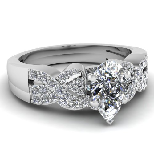 0.70 Ct Pear Shaped Diamond Archetypal Engagement