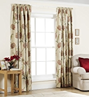 Camelia Pencil Pleat Lined Curtains