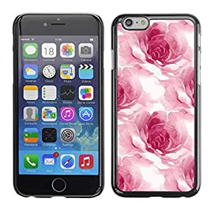 Omega Covers - Snap on Hard Back Case Cover Shell FOR Apple Iphone 6 Plus / 6S Plus ( 5.5 ) - Watercolor Roses Flower Petals Floral White