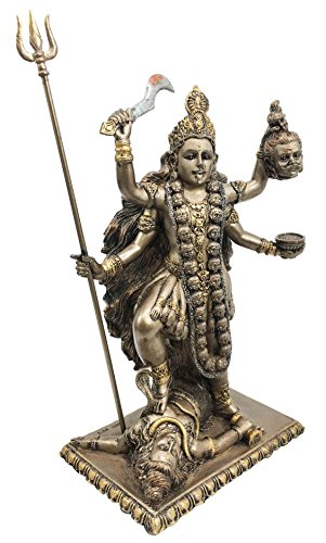 Hindu Goddess Of Time And Death Kali Bhavatārini Figurine Eastern Enlightenment Sculpture