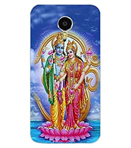 ColourCraft Lord Vishu with Maa Laxmi Design Back Case Cover for MEIZU M3 NOTE