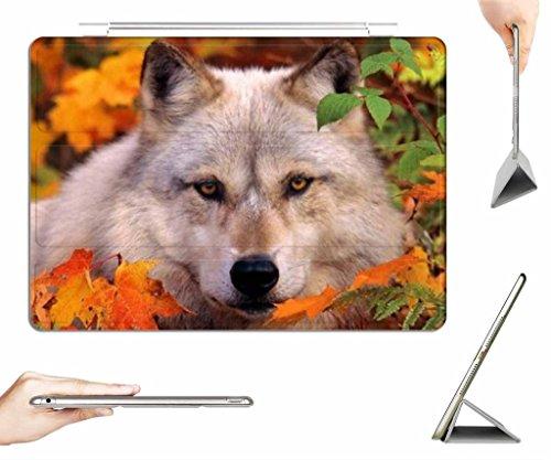 irocket-ipad-air-case-transparent-back-cover-autumn-wolf-auto-wake-sleep-function