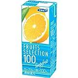 エルビー FRUITS SELECTION グレープフルーツ100 200ml×24本