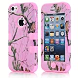 Super Spiderman Fashion Vivid Twig Branch Print New Dual Layer Protection ( PC + Silicone ) Hybrid Back Case Cover for Apple iPhone 5c with Logo Cutout - Inner Pink