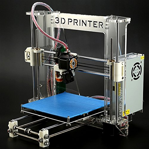 "Aurora3D DIY RepRap Prusa I3 3D Printer, 7.9"" x7.9"" x 7.1"" Build Volume, Heated Bed, Support ABS and PLA Filament, Upgrade Injection Molded, 2014 Newest Desktop Starter Bundle Kits"