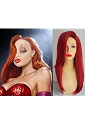 Deluxe Jessica Rabbit Style Long Red Wavy Wig
