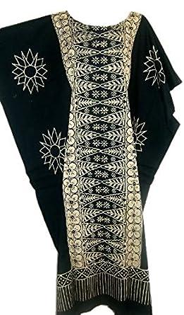 Cool Kaftans New MALAYA Cotton Kaftan Dress Black Purple Red Plus - Black - XXL Cool Kaftans