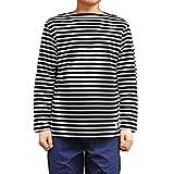 Orcival(オーチバル)ボーダーボートネックバスクシャツ【B211】[正規取扱] (5(Mens), BLACK/WHITE)