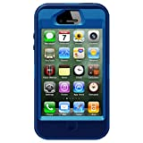 OtterBox Defender Series Hybrid Case & Holster for iPhone 4 & 4S - Frustration-Free Packaging - Ocean/Night Blue
