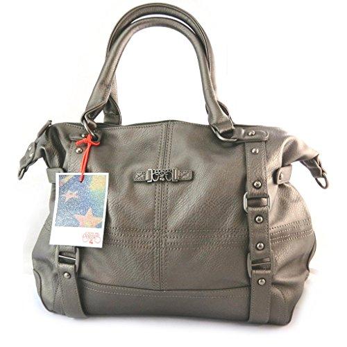 'french touch' bag 'Le Temps Des Cerises'taupe metallo.
