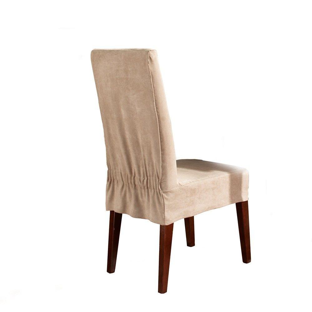 Cubre Chapo Suede Smooth silla de comedor (juego de 2) (Disponible el chocolate burdeos, borgoña de chocolate marrón)