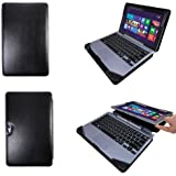 VSTN Samsung ATIV Smart PC 500T Leather Keyboard Portfolio Stand Cover Case (For Samsung ATIV Smart PC 500T, Black)
