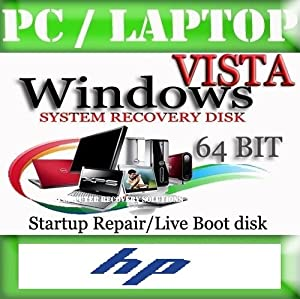HP - Windows Vista 64 Bit Recovery Boot Disc Disk CD [ALL VERSIONS, 2014 Latest]