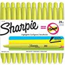 Sharpie Accent Pocket Style Highlighters, Fluorescent Yellow, 24 Highlighters