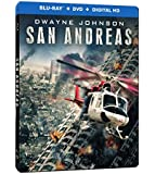 San Andreas Steelbook [Blu-ray + DVD + Digital Copy] (Bilingual)
