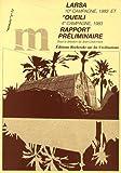echange, troc Jean-Louis Huot - Larsa (10e campagne, 1983) et Oueili (4e campagne, 1983) : Rapport préliminaire