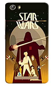 Omnam Star War Lovers Banner Printed Back Cover Case For Gionee Marathon M5 Lite