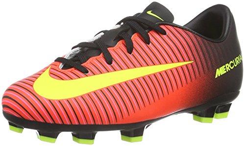 Nike Unisex - Bimbi 0-24 Jr Mercurial Vapor XI FG scarpe da calcio, Arancione (Naranja (Total Crimson / Vlt-Blk-Pnk Blst)), 33
