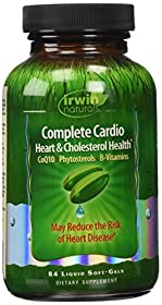Irwin Naturals Complete Cardio Heart and Cholesterol Health Diet Supplement, 84 Count