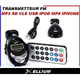 Emetteur Transmetteur FM Lecteur MP3 Allume cigare mp4 iphone ipod nano carte sdpar Destockopromo