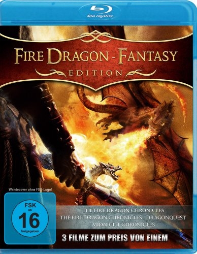 Fire Dragon - Fantasy Edition (The Fire Dragon Chronicles / The Fire Dragon Chronicles - Dragon Quest / Midnight Chronicles) [Blu-ray] [Collector's Edition]