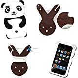 Boriyuan Global 3D Cute Panda Silicone Jelly Skin Soft Case Cover for Apple IPod Touch 4 4th Gen Generation