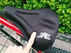 Unisex Extra Comfort Soft Gel Bike Seat Cushion Cover - Black