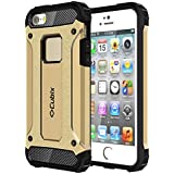Cubix Impact Hybrid Armor Defender Case For Apple IPhone 5 (Gold)