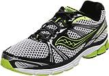 Saucony Men's Progrid Guide 5 Running Shoe,Black/White/Citron,9.5 M US
